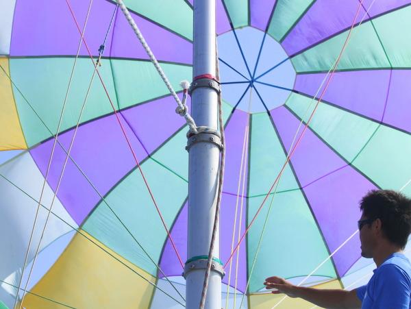 パラセーリングの帆